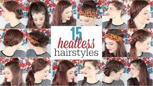 heatless hairstyles no heat hairstyles ma nouvelle mode