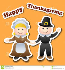 thanksgiving cartoon videos cartoon pilgrim stickers for thanksgiving royalty free stock