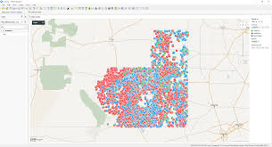 New Mexico County Map by How To Plot Pie Charts As Markers On A Map Chart In Spotfire