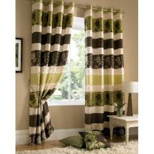 Green And Brown Curtains Buy Kensington Brown Jacquard Lined Curtains
