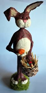 paper mache easter bunny diy paper mache clay easter bunny christmas gifts to make
