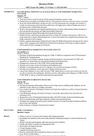 sle of resume partnerships marketing manager resume sles velvet