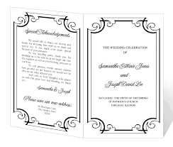 banquet program templates blank wedding program templates images exle resume