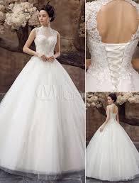robe de mari e magnifique robe mariée magnifique boule en tulle blanc avec strass col roulé