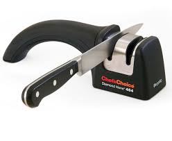 sharpening kitchen knives with a chef schoice pronto model 464