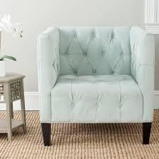 Light Blue Accent Chair Zuo Puget Blue Cotton Blend Arm Chair 100217 The Home Depot