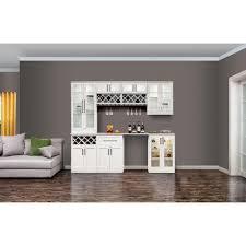 newage products white woodgrain shaker style modular bar with