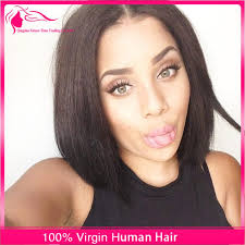 short haircuts with middle part natural hairline short bob cut full lace wigs middle part