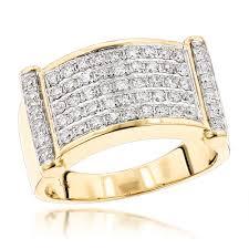rings gold men images Luxurman rings for men unique 14k gold mens diamond band 1 25ct jpg
