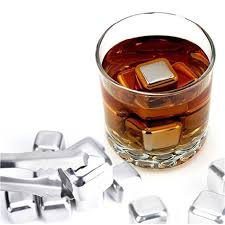 Soapstone Whiskey 5pcs Lot Stainless Steel Ice Cubes Cool Glacier Rock Neat Drink