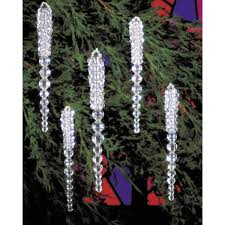 beaded ornament kit sparkling icicles 3 3 4 makes 30