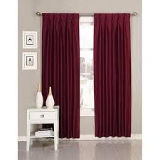 84 inch merlot pinch pleat curtains pair panel set wine red