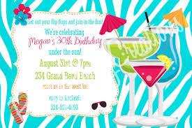 pool birthday invitation wording ideas