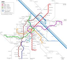 European Rail Map by Urbanrail Net U003e Europe U003e Austria U003e Wien Vienna U Bahn