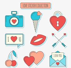 imagenes de amor con muñecos animados dibujos animados de amor creativo de elementos en forma de corazon