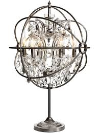 lighting enticing small chandelier table lamp with aluminum base