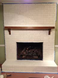 wonderful white color brick wall panels painted fireplace added