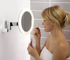 lighting australia niimi round bathroom magnifying mirrors 0760