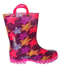 light up rain boots lilly girls starstreak light up rain boots sizes 5 10