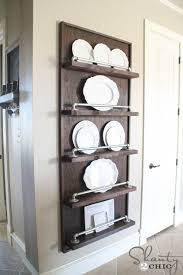 Plate Holders For Cabinets by Diy Industrial Pipe Plate Rack Shanty 2 Chic