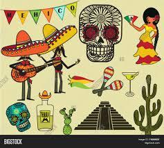 Mexican Flag Cartoon Mexico Clip Art Symbols Cartoon Vector U0026 Photo Bigstock