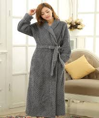 winter women bathrobes long style ankle length dressing gown for
