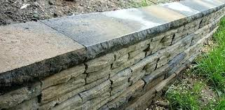 topper stones add a finished look build retaining wall blocks