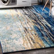Brown And Turquoise Area Rugs Stevensville Blue Area Rug U0026 Reviews Allmodern