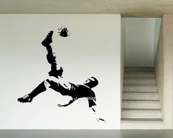 high quality gym design buy cheap lots from soccer player vinyl wall stickers sport ball decor gym decal artistic design wallpaper perfect