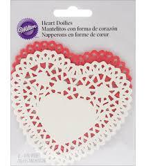 heart doilies paper doilies white heart 4 12 pkg joann