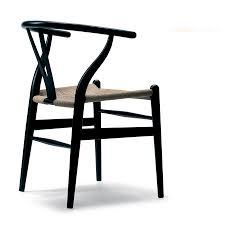 hans wegner ch24 wishbone chair in oak black natural papercord