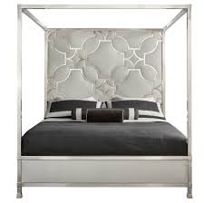 Upholstered Canopy Bed Hayley Regency Upholstered Canopy Bed King Kathy Kuo