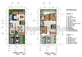 desain rumah lebar 6 meter desain rumah 2 lantai di lahan 8 x 16 m2 dr 803 desain rumah