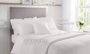 grace white bedding collection dunelm
