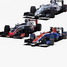 formula 4 car formula 1 2016 car pack 2 3d model cgstudio