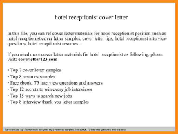 example of application letter for hotel receptionist