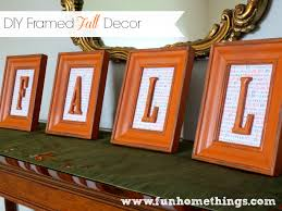 diy framed fall decor fun home things