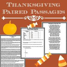 thanksgiving story vs poem paired passages school