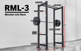 rml 3 rogue monster lite r 3 power rack rogue fitness
