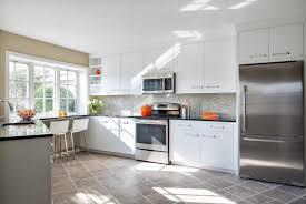 Black Countertop Kitchen - kitchen trendy white kitchen cabinets with black countertops