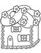 christmas gingerbread house coloring free printable