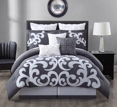 White Bed Set Queen 9 Piece Empress 100 Cotton Black White Comforter Set Queen Ebay