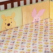winnie the pooh crib bumper peeking pooh disney baby
