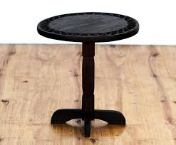 dark wood side table round dark wood side table in and out sa