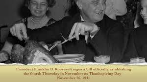 today in history november 26 fdr establishes modern thanksgiving