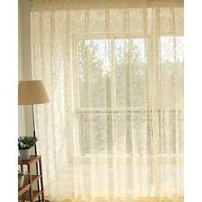 Lace Shower Curtains Sheer Light Yellow Floral Dreamy Lace Curtains