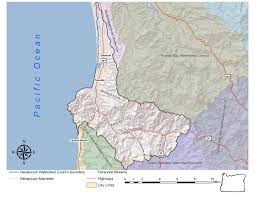 Cannon Beach Oregon Map by About The Necanicum Watershed Council Necanicum Watershed Council