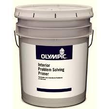 shop olympic 5 gallon interior flat white latex base paint at