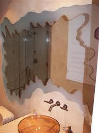 Etched Bathroom Mirror Bathroom Mirror Frames Sans Soucie Glass