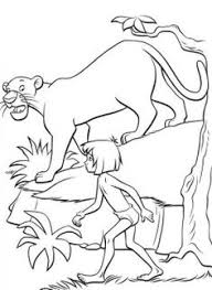 mowgli shere khan jungle book coloring pages kids